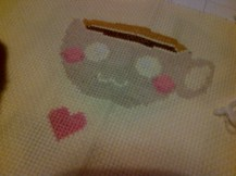 Can't wait to finish this PixyStitches patterm - just the black thread to go