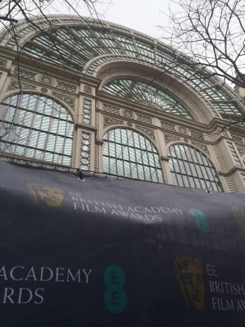 Preparing for the BAFTAs at the Royal Opera House