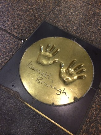 BRANAGH! Found in the entrance way of the Vue cinema, Leicester Square