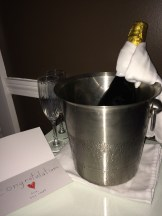 Free prosecco from the Kennebunkport Inn