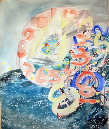 All the Time in the World, acrylic on canvas, 60 by 48 in. Emilia Kallock 2012