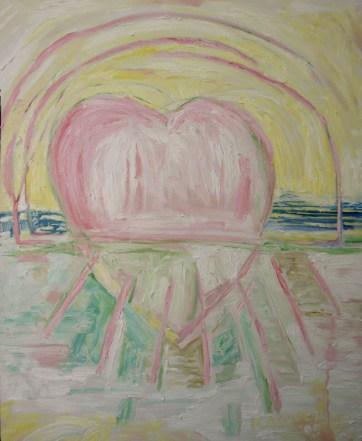 Horizon Heart, oil on canvas, 28 by 22 in. Emilia Kallock 2008