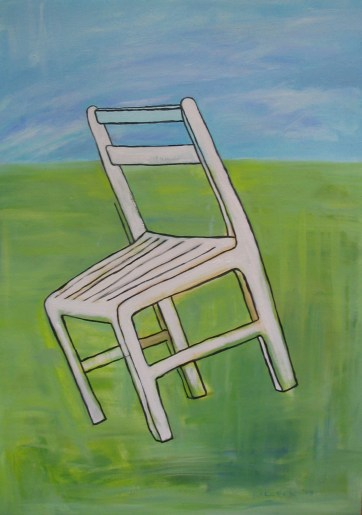 Chair, oil on canvas, 30 by 24 in. Emilia Kallock 2005