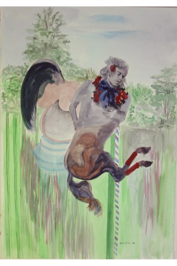 Early Spring, watercolor on paper, 30 by 19 in. Emilia Kallock 2003