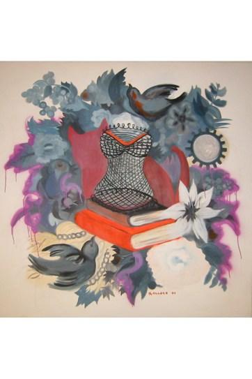 Femenina, oil on canvas, 60 by 60 in. Emilia Kallock 2003