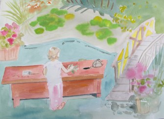 Lily Pond 4, watercolor on paper, 8 by 12 in. Emilia Kallock 2012
