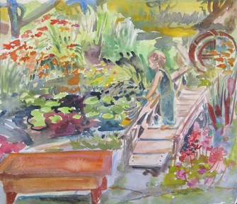 Lily Pond 2, watercolor on paper, 12 by 14 in. Emilia Kallock 2012