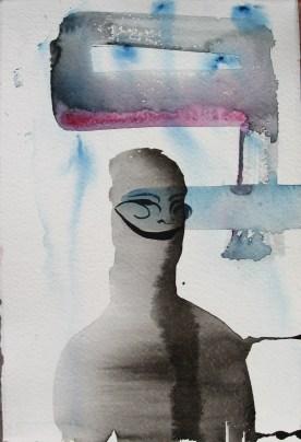 Mood Sketch 7, watercolor on paper, 8 by 5 in. Emilia Kallock 2006