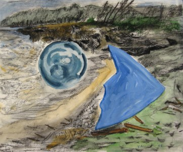 Pounders Debris, watercolor and gouache on paper, 12 by 16 in. Emilia Kallock 2007