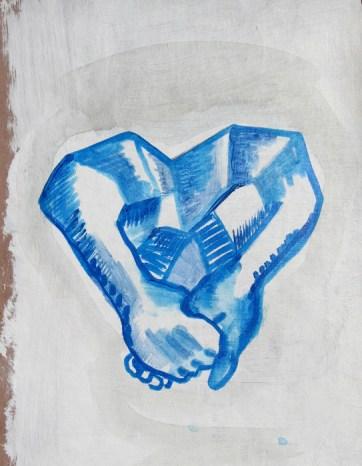 Rock Heart, acrylic on paper, 12 by 8 in. Emilia Kallock 2007