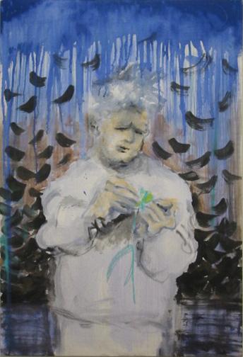 Sad Painting, acrylic on canvas, 35 by 20 in. Emilia Kallock 2003