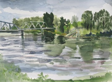 Skagit River 2, watercolor on paper, 18 by 24 in. Emilia Kallock 2008