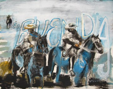 El Buen Dia, watercolor and charcoal on paper 40 by 48 in, Emilia Kallock 2008