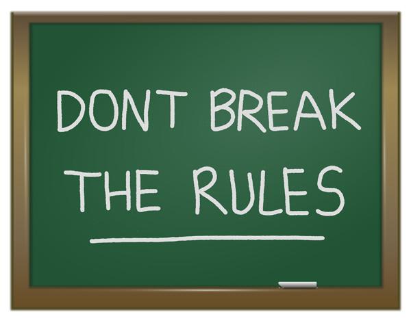 No rompas las reglas