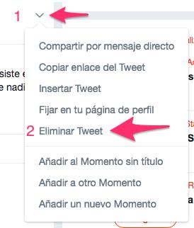 eliminar tweet