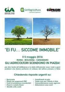 Volantino A4 Manifestazione 5 maggio 2016