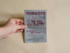 Flyer de l'exposition Mirages