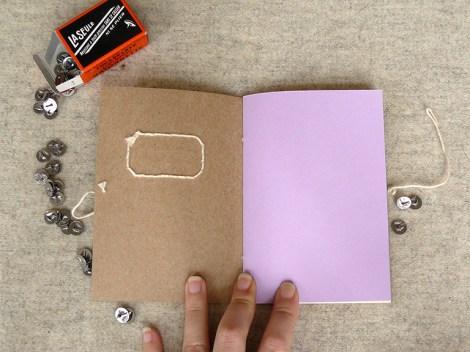carnet, papeterie, vintage, broderie, couleur, papier, carton, fil