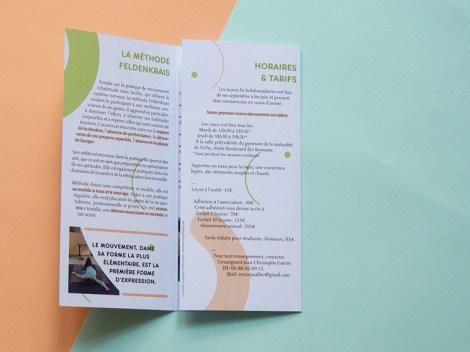 dépliant, brochure, plaquette, feldenkrais, sport, méthode, douce, mouvement, aisance, facile