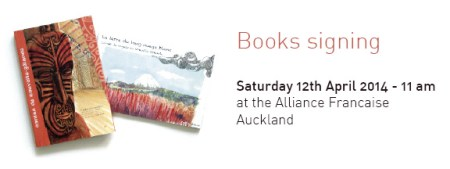 Book signing at the Alliance francaise Auckland