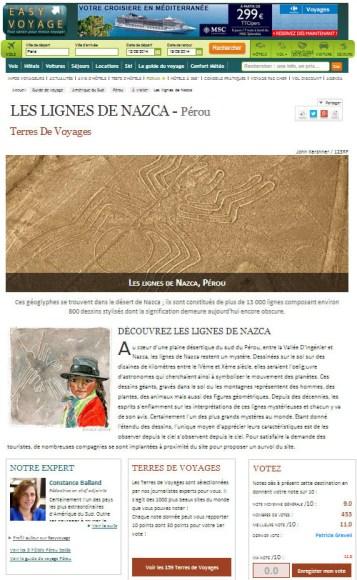 illustration by Emilie Geant for Terres de Voyages newsletter Easyvoyage Perou Les lignes de Nazca
