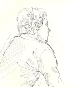 man, back, Emilie Geant, illustration, sketch, new zealand