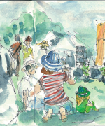 waitakere festival, auckland, music, Emilie Geant, illustration, sketch, new zealand