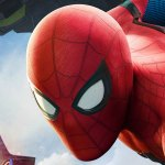 Close-up image from the 'Spider-Man: Homecoming' poster