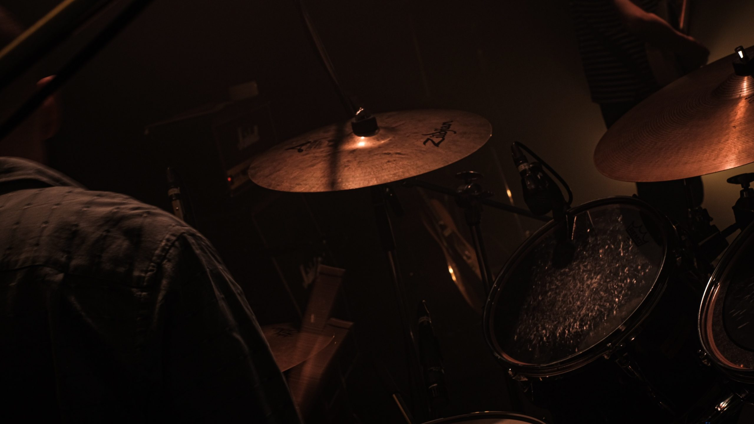 Picture of drums from over my right shoulder
