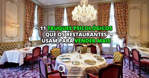 11 truques psicológicos que os restaurantes usam para vender mais