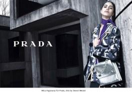 08 Mica Arganaraz for Prada, shot by Steven Meisel.