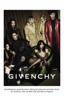 19 Kendall Jenner, Jamie Bouchert, Mariacarla Boscono, Peter Brant, and others for Givenchy, shot by Mert Alas and Marcus Piggott.