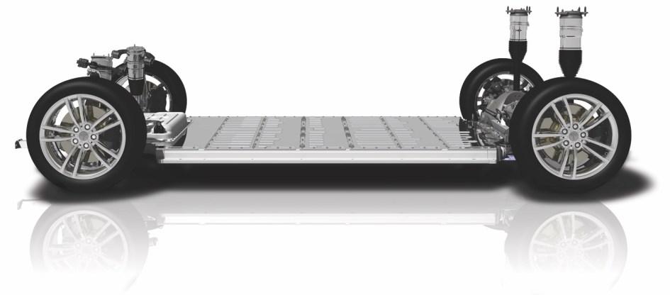 Plataforma skateboard Tesla Model S