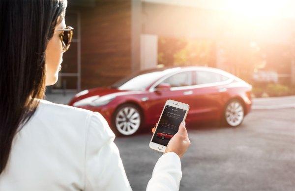 Tesla Model 3 desde App