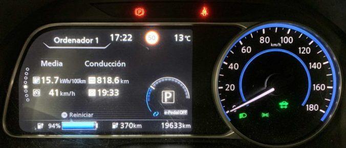 Consumo tras 818 km