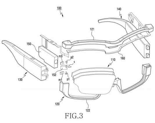 smartglasses AR samsung patente