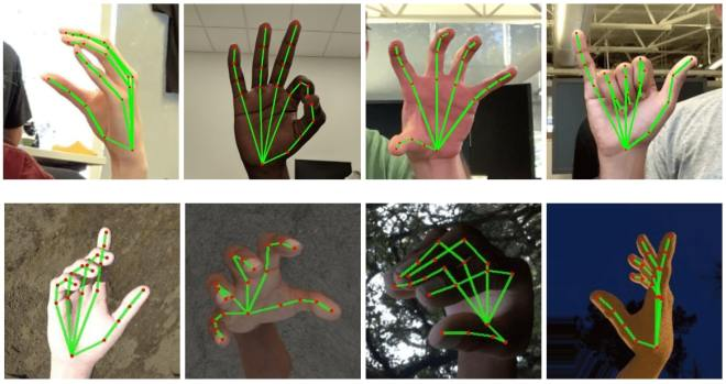 google AI hand and finger tracking augmented reality