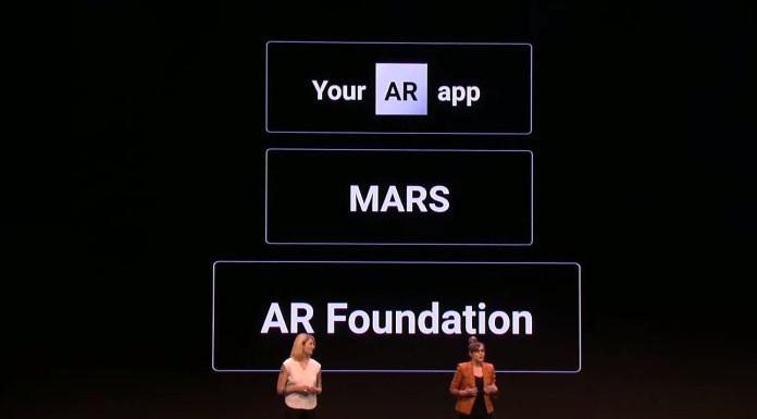 AR MARS AR foundation unity