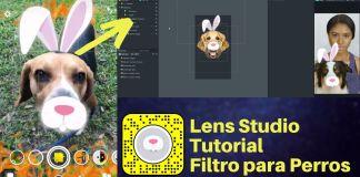 lens studio perro filtro snapchat