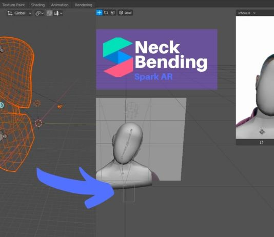 spark AR neck bending emiliusvgs