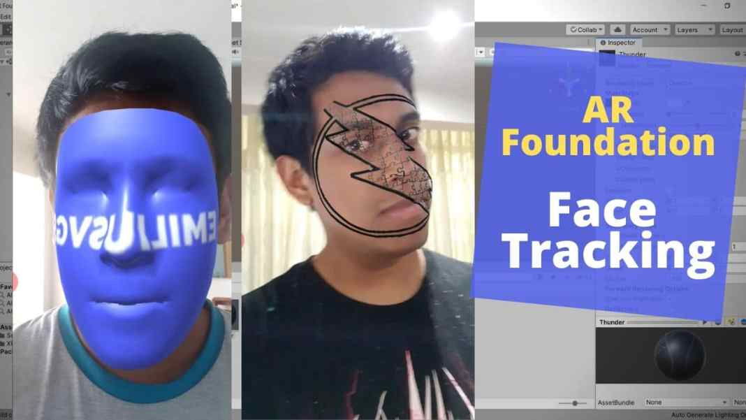 AR Foundation face tracking