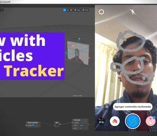 draw particles spark ar face tracker