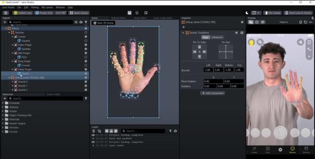Lens Studio Hand Joints