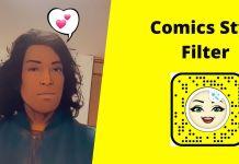 comics style snapchat