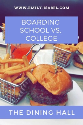 Boarding school vs  college dining | Emily Isabel