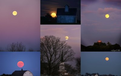 A year of full moons and the hazards of photography