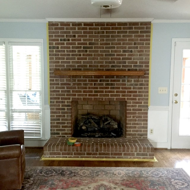 Image result for brown brick hearth pictures