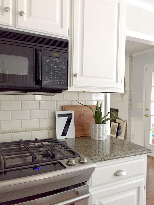 Our White Kitchen Cabinets Granite Emily A Clark