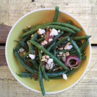 Green Beans with Feta and Pine Nuts