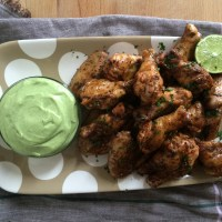 "Tequila Lime ""Margarita"" Chicken Wings and Southwest Ranch Dipping Sauce"